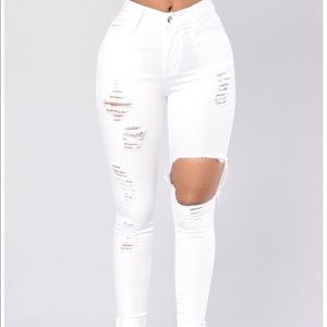 Size 11 Fashion Nova Glistening Jeans